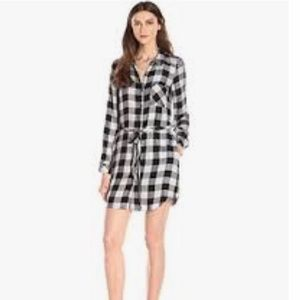 NWT Kensie Women's Herringbone Shirt Dress Size M